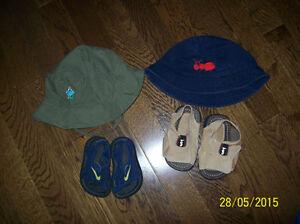 Infant Nike Sandal Size 2 & BUM Sandal Size 3, Infant Hats