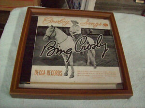 FRAMED 1946 BING CROSBY RECORD BOOK SET