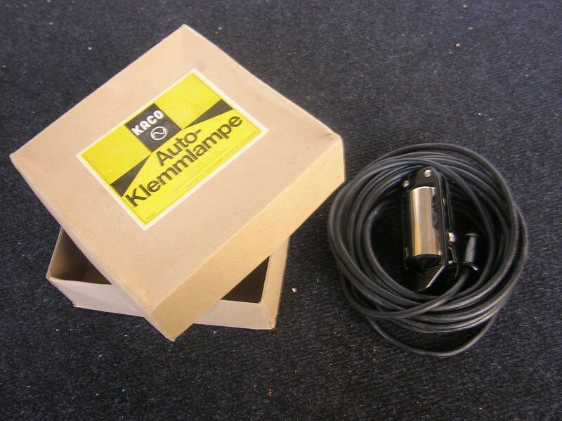 KACO CAR LAMP BLACK TROUBLE LIGHT MERCEDES BENZ MB ACCESSORY NOS