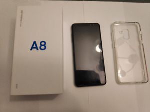 Selling New Samsung Galaxy A8 with screen protector, box and cas