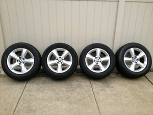 """Bmw oem rims 18"""" and snow tires for x3"""