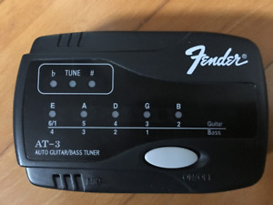 Fender AT-3 Auto Guitar Bass Tuner-NEW