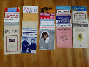 Collection of Vintage Piano Books and Sheet Music
