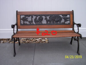 Wooden / Wrought Iron Bench