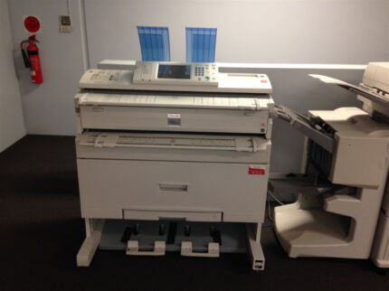 Ricoh Aficio W2400 wide format + A3 plan printer/scanner/copier Bibra Lake Cockburn Area Preview