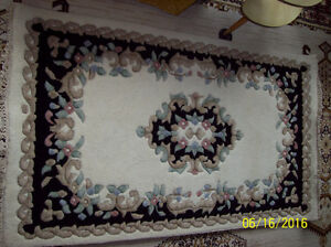 Made in India, Floral Aubusson Wool 5 X 3 Rug Stratford Kitchener Area image 2