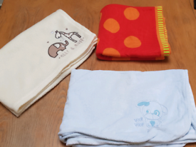 Set of 4 Baby blankets