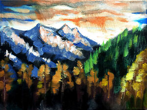 """""""Bow Valley"""" original landscape painting on canvas"""