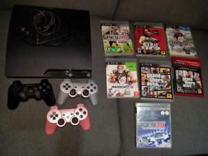 Sony Playstation 3 Console - 160 GB / Games / Controllers