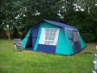 Full camping set up including Lichfield tent