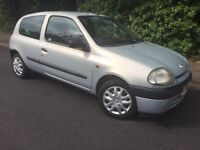 2001 RENAULT CLIO - CLEAN - RELIABLE - BARGAIN