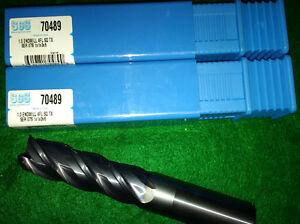 """1"""" dia. Solid Carbide Endmills SGS 70489 (brand new 2pcs)"""