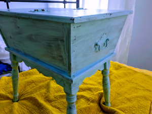 Baby blue end table