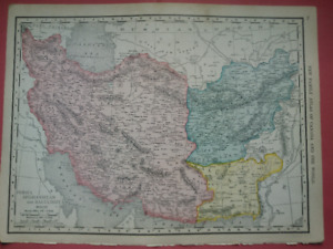1910 OLD maps Ethiopia S Africa Ireland Iran India China Syria