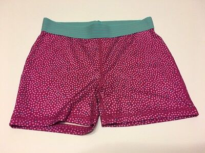Girls Compression Shorts (Girls Fitted Compression Shorts Danskin Large Berry Dot)
