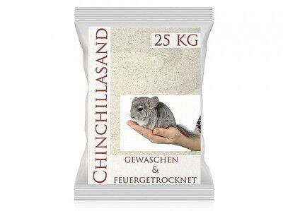 25 Kg oder 30 Kg Chinchillasand Premiumsand, Naturweiß, sehr fein,  Badesand