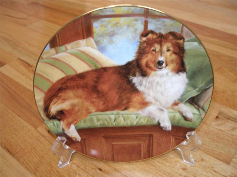 Danbury Mint Shetland Sheepdog Luxury Seat Plate MINT