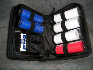Bicycle Poker Chip and Card Set in Soft Case, NEW