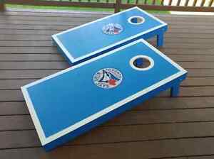 Blue Jays Handcrafted Cornhole Bean Bag Toss Game Kitchener / Waterloo Kitchener Area image 7