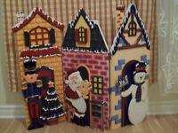 Paravent en bois décoration Noël comme NEUF!!!! DEAL!!!!