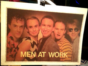 Vintage NOS Original 70s Iron-On Transfer MEN AT WORK