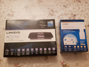 Linksys Wifi Router and Wifi Range Extender