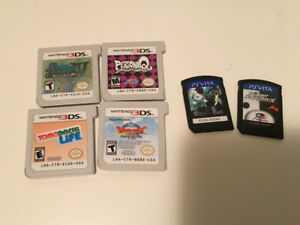 3ds and vita games for sale