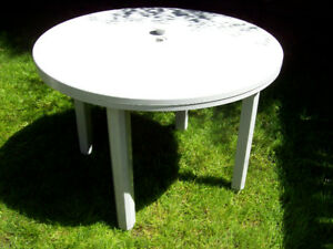 Patio table , round , $ 40