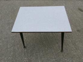 Side Coffee Table - Retro Vintage Greyish Formica Top Side Coffee Tabl