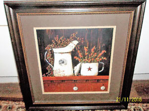 Lovely matted picture in wood frame 19 x 19 inches Kitchener / Waterloo Kitchener Area image 1