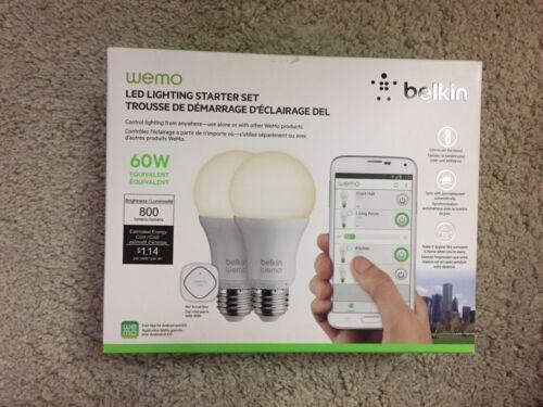 Belkin WeMo Home Automation LED Lighting Starter Set  2 Pack White - NEW!
