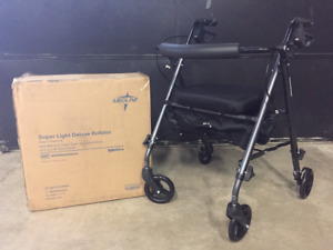 NEW Medline Super Light Deluxe Walker Rollator Only $79.99