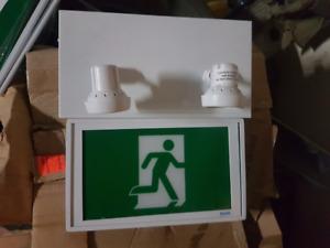 Brand new Beghelli running man emergency light