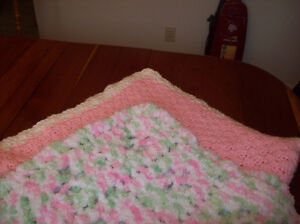 2 Hand Made Crocheted Baby Blanket
