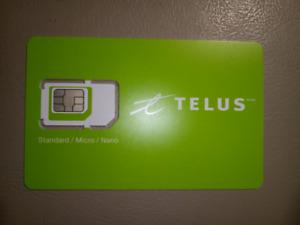 Telus SIM card: 3in1 (Nano Regular Micro) Tri-Sim Card 3G/4G/LTE