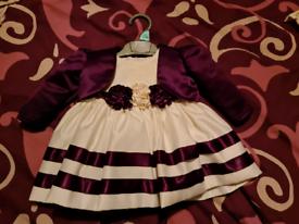 Designer dress and jacket 0-3 months