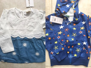 Brand New with tags girl Sweatshirt & Blouse