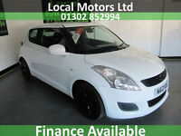 Suzuki Swift 1.2 SZ3 Manual Petrol Black Alloys In White