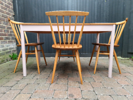 Ercol Elm Dining Table Vintage Retro Delivery Available