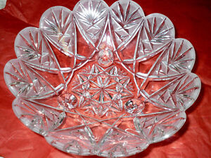 Gorgeous footed Crystal Bowl