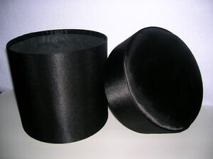 Cylindrical Satin Box with Lid, padded