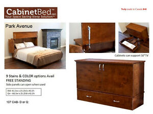 Canadian Made Queen Cabinet Bed