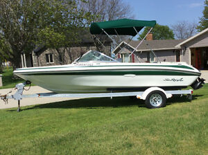 FOR SALE: 1996 Sea Ray 175 series bow rider, motor and trailer