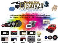 Transfert souvenirs vidéos cassettes sur dvd et clé usb