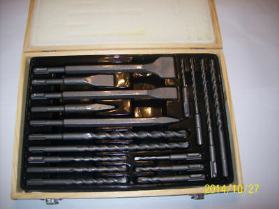 17pc ATE PRO SDS PLUS DRILL CHISEL ROTARY HAMMER CARBIDE BIT SET MASONRY 94017