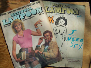 2 National Lampoon Humour Magazines