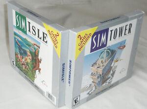 SimTower  / Sim Isle (New & Sealed) - 2 PC Games