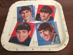 1970s Made in England Vintage Beatles memorabilia tray