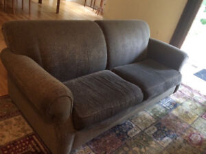 Grey/Green Big Comfy Couch *Lower price*