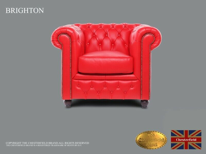 Chesterfield Armchair -The Chesterfield Brand Authentic -Classic red -HANDMADE